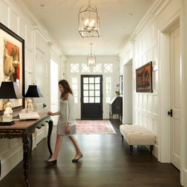 White Painted Paneled Walls in Entry Hall - Minnesota