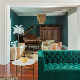 Family Room into Piano Room