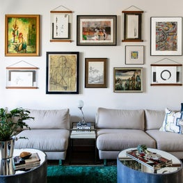 Collected and Curated Living Room Gallery Wall