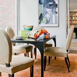 Harvard Square Family Home, Dining room with custom dining table