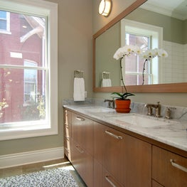 Hall Bathroom in completely renovated vintage home