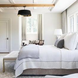 Layered Casual Glam Connecticut Modern Farmhouse Style Master Bedroom Suite