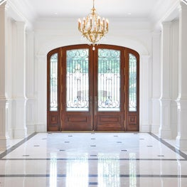 African Mahogany doors with sidelights