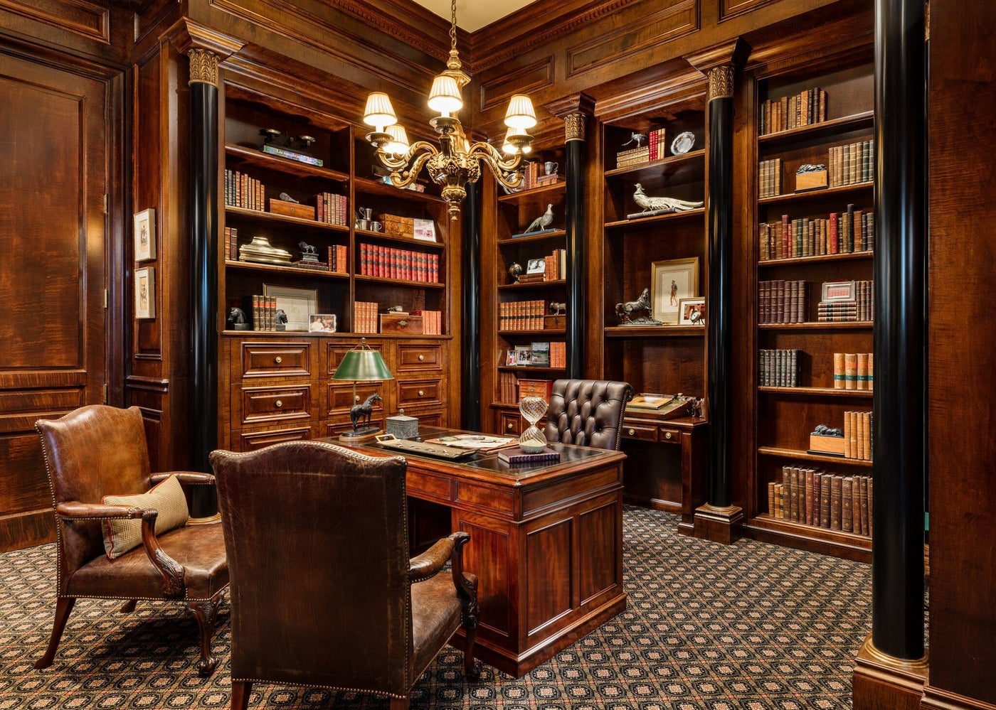 Library in Palm Beach Estate.