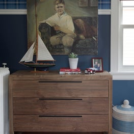 Vintage Americana Boys Room in Victorian-Era Home