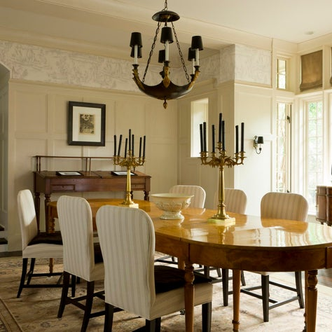 Traditional sunken dining room