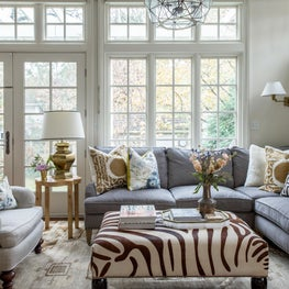 Chicago eclectic Victorian, family room