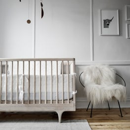 Nursery from Clinton Hill renovation with custom millwork