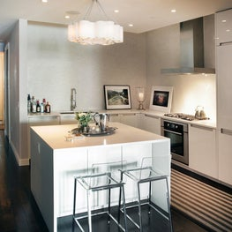 Sleek modern kitchen with lacquer cabinetry
