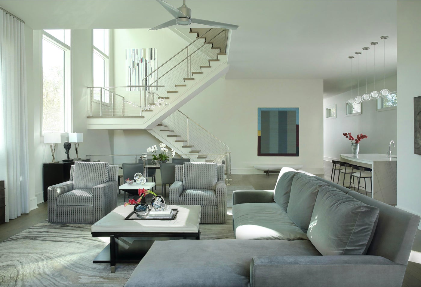 Open Contemporary Living Space