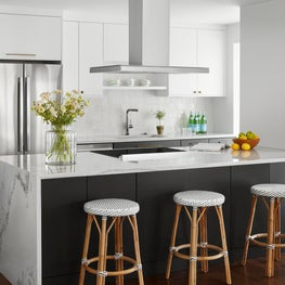 Eclectic and Bohemian Gold Coast Condo Renovation, Kitchen and Breakfast Bar