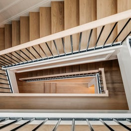 Central stair in a Marina Residence. Lindsay Gerber