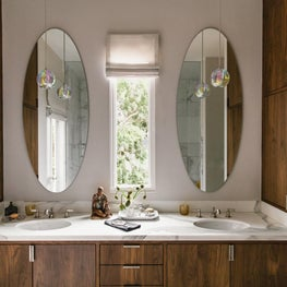 San Francisco Residence, Master Bathroom with John Pomp Pendants