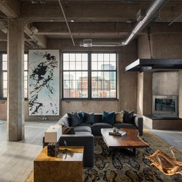 Denver Flour Mill Loft Living Room