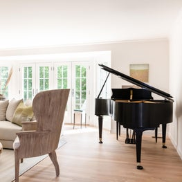Weston Tranquil Living Room with Piano