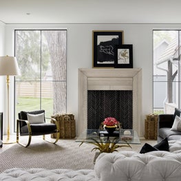 Brynn Olson Design Group - Hinsdale Modern Farmhouse - Family Living Room