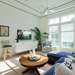Florida Guest House Living Room by Diane Burgoyne Interiors