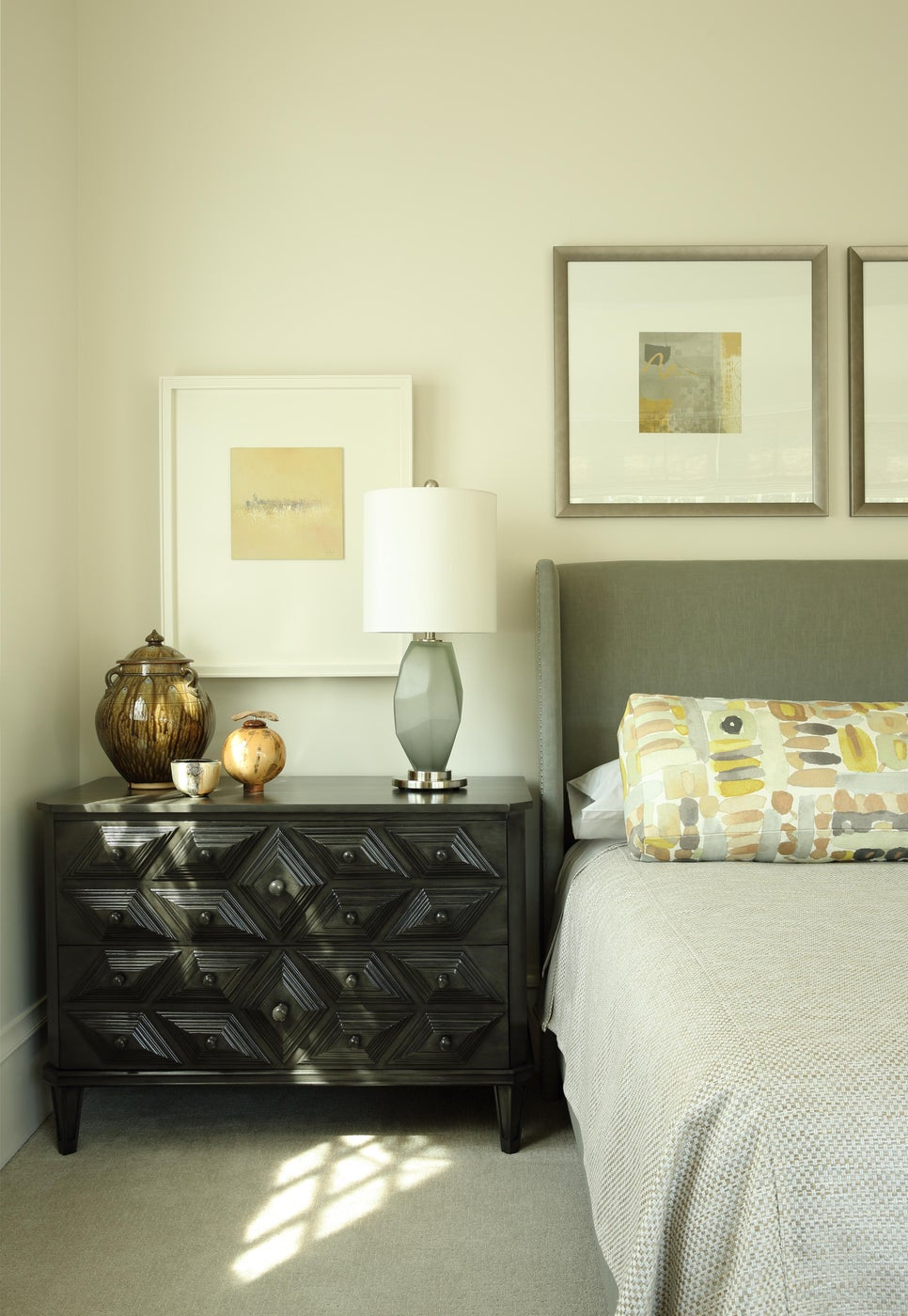 Serene Bedroom with Nightstand