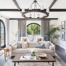Transitional Spanish Revival Living Room
