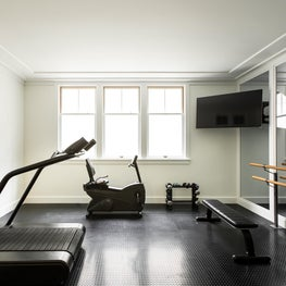 Home Gym in a Santa Monica Craftsman Residence