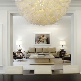 Madison Avenue Apartment, View of Living and Dining Room