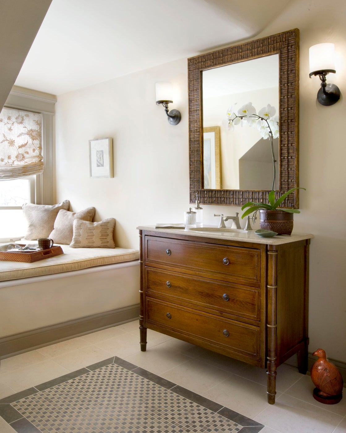 Modified vintage chest for Bathroom vanity for Lake Forest Showhouse & Gardens