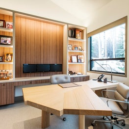 Snowmass Village, Aspen Two Creeks Remodel- Office- Shelving, Walnut