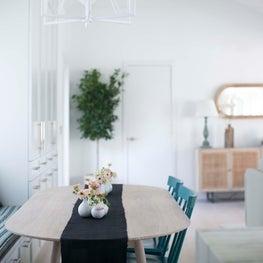 Sag Harbor Dining Room with Custom Builtin Storage Units