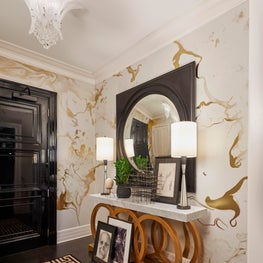 Statement Foyer with Pops of Gold