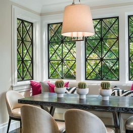 Bryn Mawr Residence, Breakfast Room with Banquette Window Seating