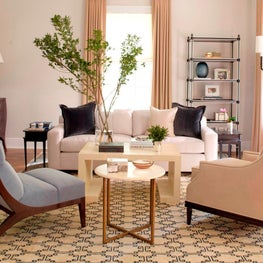 Eclectic Salon-Style Neutral Living Room
