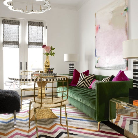 Playful colors and patterns for this Bedroom turned Sitting Room