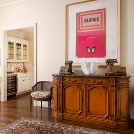 Foyer with Great Art and Antiques