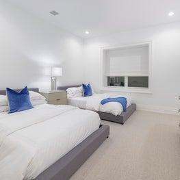 Hamptons Guest Bedroom Staging
