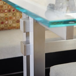 Madison Avenue Residence Custom Glass and Steel Table