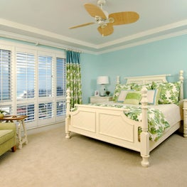 Gulf Front Residence, Guest Room with custom fabrications