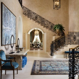 Entry hall in Palm Beach Estate