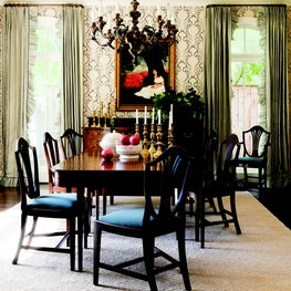 Cherished heirlooms shine in this traditional dining room.