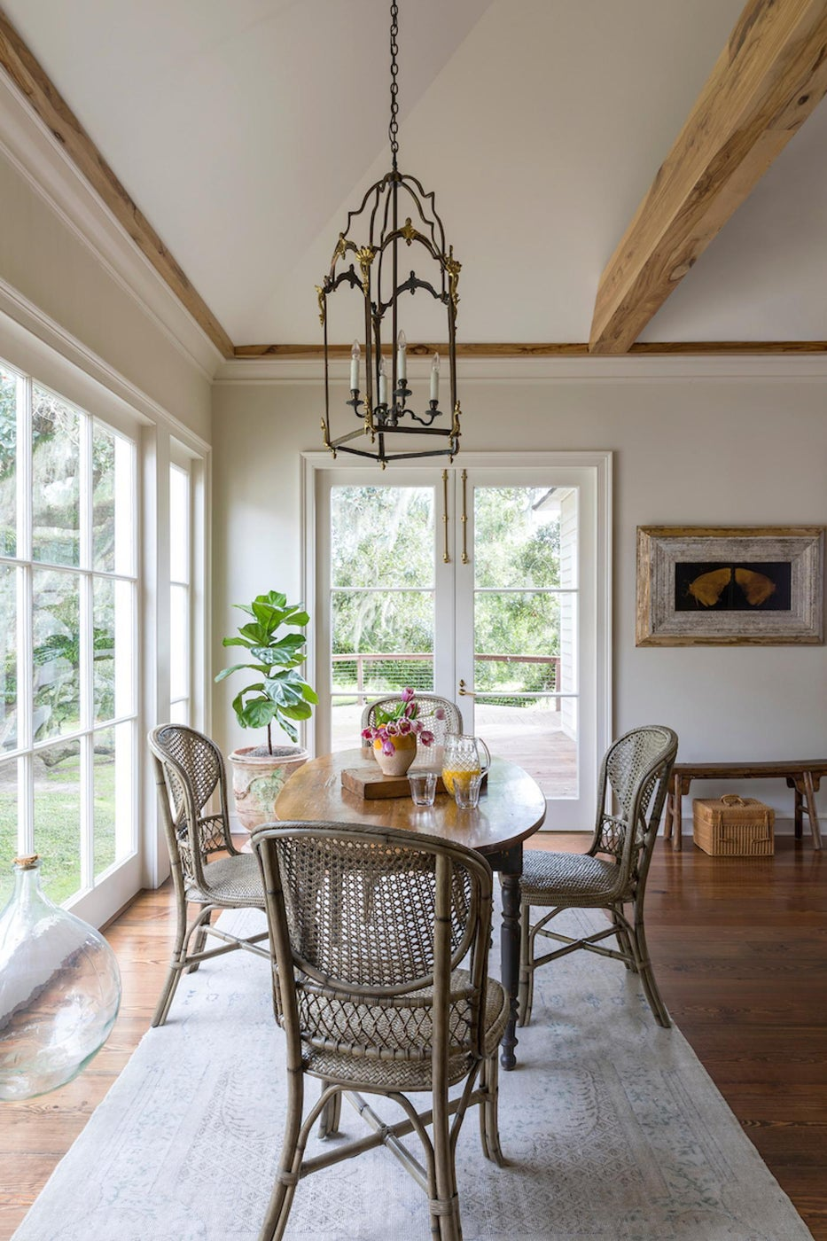 Chic breakfast nook provides a multi-use space in the family home