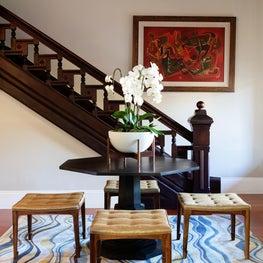 Eclectic Victorian Foyer