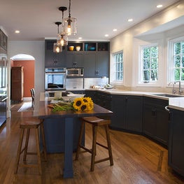 Dramatic kitchen cabinetry