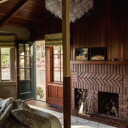 Hillsborough Craftsman Estate, Master Bedroom with Murano glass chandelier