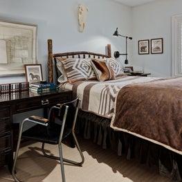 Rustic Mountain Home Guest Bedroom