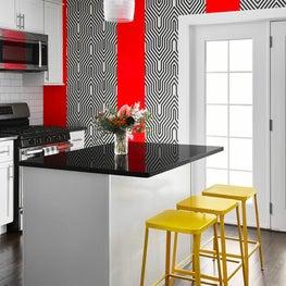 Logan Square chicago , vibrant kitchen design