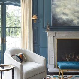Great Room with Custom Rug