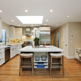 Kitchen featuring hardwood flooring and neutral palette