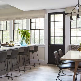 Kitchen with Breakfast Nook and Peninsula Seating