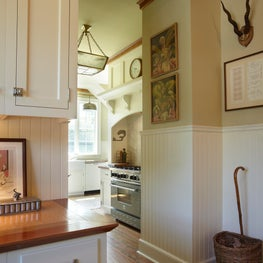 The Kitchen of a Converted Stable in the Hamptons