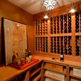 Two Modern Living Flats: Wine Room