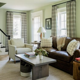 Study Sitting Room in Linen plaid